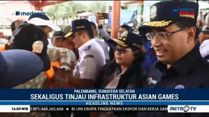 Menhub Cek Kesiapan Infrastruktur Dermaga 16 Ilir Palembang