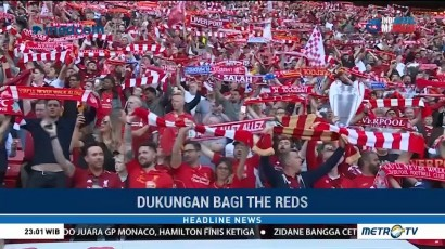 Meski Kecewa, Suporter Liverpool Rayakan Hasil Akhir Liga Champions