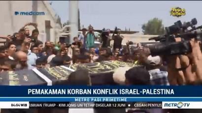 Dua Warga Palestina yang Tewas Akibat Bentrokan Dimakamkan