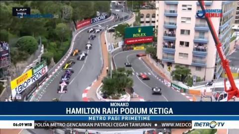 Daniel Ricciardo Finis Pertama di GP Monaco