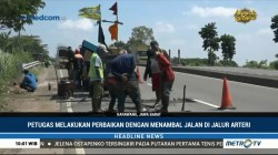 Jelang Arus Mudik, Jalan Arteri di Karawang Diperbaiki