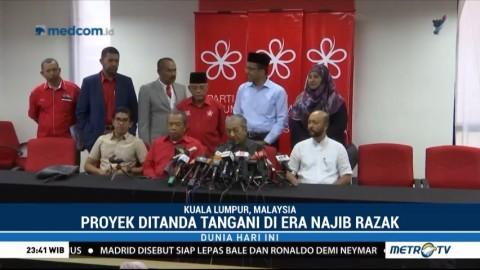 Mahathir Hentikan Proyek Kereta Cepat Malaysia-Singapura