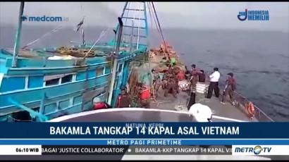 Bakamla Tangkap 14 Kapal Pencuri Ikan di Perairan Natuna