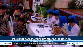 Jokowi Ajak 300 Pejabat Bayar Zakat di Istana