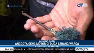 Geng Motor Serang Permukiman Warga Gunakan Busur