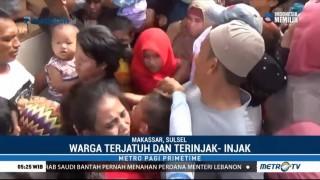 Pembagian Zakat dan Sedekah di Makassar Berlangsung Ricuh