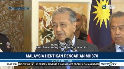 Malaysia Hentikan Pencarian MH370