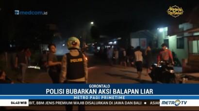 Polres Gorontalo Bubarkan Aksi Balapan Liar