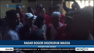 Massa PDIP Geruduk Kantor Radar Bogor
