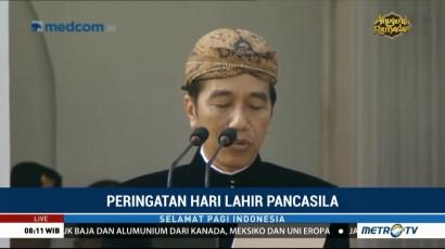 Pidato Jokowi di Upacara Peringatan Hari Lahir Pancasila