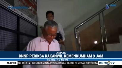 Kakanwil Kemenkumham Lampung Diperiksa BNN