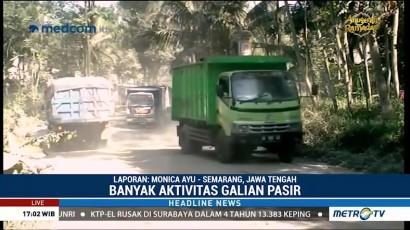 Jalur Evakuasi Gunung Merapi di Klaten Rusak