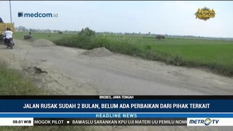 Jalan Poros Tengah Brebes-Purwokerto Rusak Parah