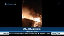 Sebuah Rumah Mewah di Bekasi Hangus Terbakar