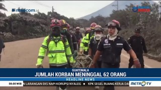 Korban Tewas Erupsi Gunung Fuego Capai 62 Orang