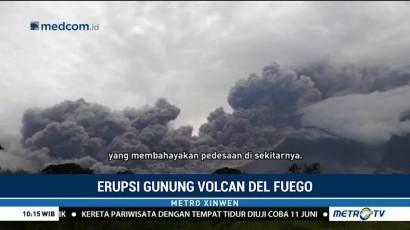 Gunung Fuego di Guatemala Erupsi