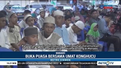Ratusan Anak Yatim Buka Bersama Umat Konghucu di Manado