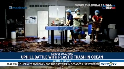 Uphill Battle with Plastic Trash in Oceans