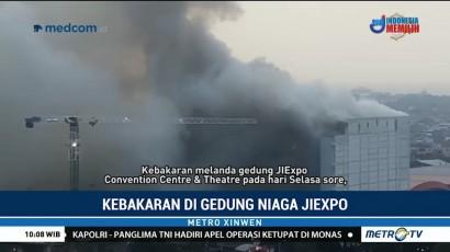 Kebakaran di Gedung Niaga JIExpo