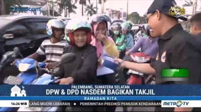 DPW dan DPD NasDem Sumsel Bagikan Takjil Gratis