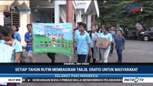 Umat Kristiani di Semarang Bagikan Takjil untuk Masyarakat