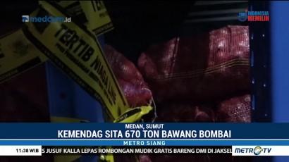 Kemendag Sita 670 Ton Bawang Bombai Ilegal