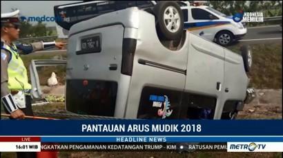 Kecelakaan Tunggal Terjadi di KM 152 Tol Cipali