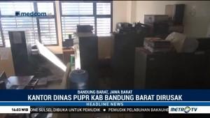 Tak Diberi THR, Oknum Ormas Rusak Kantor Dinas PUPR Bandung Barat