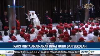 Paus Fransiskus Temui 500 Anak Lintas Agama