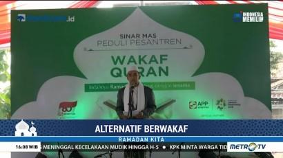 Sinar Mas dan Media Group Wakafkan 180 Alquran ke Ponpes Babussalam Tangerang