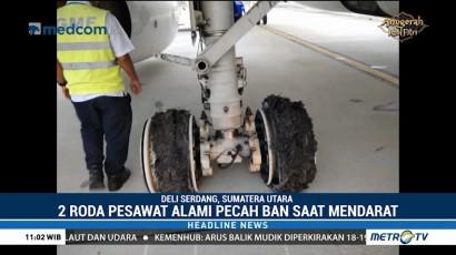 Garuda Indonesia Pecah Ban Saat Mendarat di Bandara Kualanamu
