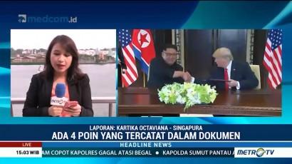 Empat Poin Kesepakatan Trump dan Jong-un