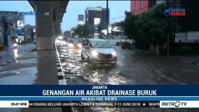 Ruas Jalan Fatmawati Tergenang Air Setinggi 40 Cm