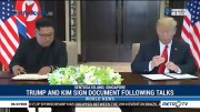 Trump and Kim Sign Document Following Talks