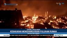 Puluhan Rumah di Sorong Ludes Terbakar