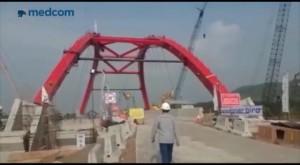Jembatan Kali Kuto Mulai Dilalui Kendaraan