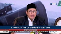 Pemerintah Tetapkan Idulfitri Jatuh pada 15 Juni