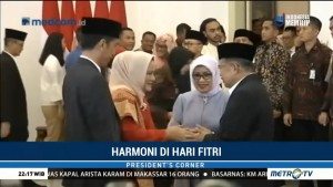 Jokowi dan JK <i>Open House</i> di Istana Bogor