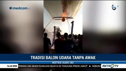 Balon Udara Jadi Tradisi Lebaran Meski Ganggu Penerbangan