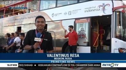 Keliling Moskow dengan Bus 'Wonderful Indonesia'