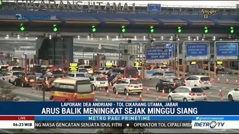 89 Ribu Kendaraan Kembali ke Jakarta Melalui GT Cikarang Utama