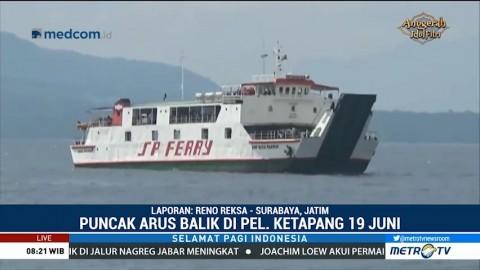 Puncak Arus Balik di Pelabuhan Ketapang Diprediksi Besok