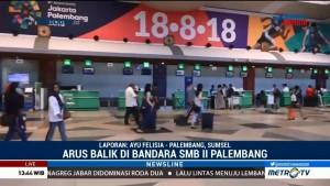 Arus Balik Bandara SMB II Mulai Ramai