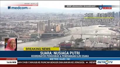 Sudah Enam Kali Gempa Susulan Guncang Osaka