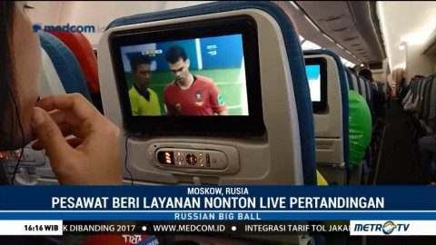 Nobar Piala Dunia di Atas Pesawat