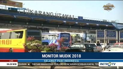 Arus Lalin di GT Cikarang Utama Ramai Lancar