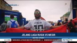 Suporter Optimis Mesir Bisa Menang Lawan Rusia
