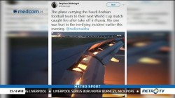 Pesawat Timnas Arab Saudi Alami Insiden