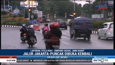 Jalur Jakarta Menuju Puncak Kembali Dibuka