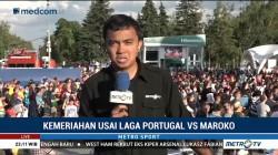 Suporter Portugal Rayakan Kemenangan